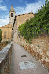 Church in Pienza, Tuscany, Italy.