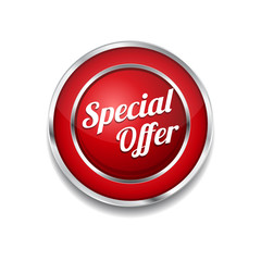 Special Offer Red Vector Icon Button