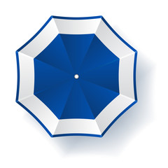 vector umbrella blue white