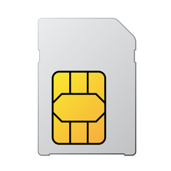 vector white blank sim card