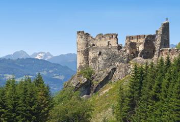 Ruine Steinschloss, Blick von Südost