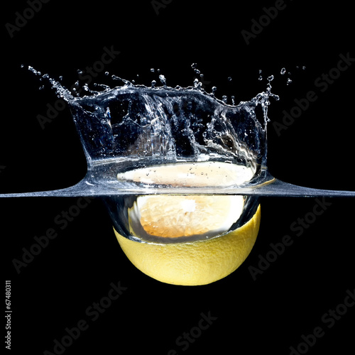 canvas print picture grapefruit splash