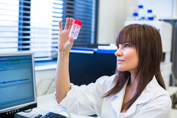 Portrait of a female researcher  in a lab