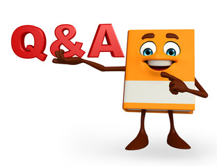 Book Character with Q & A sign