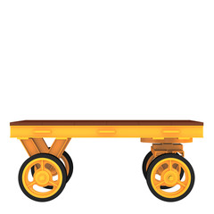 Working trolley for transporting cargo