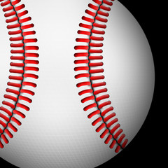Dark Background of Baseball