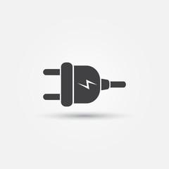 Electric plug - vector minimal icon
