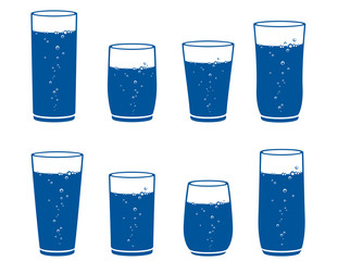 sparkling water glass set