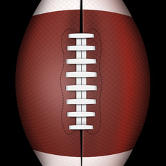 Dark background of american football or rugby sports