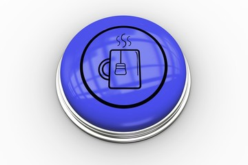 Mug graphic on purple button