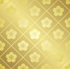 japanese pattern gold Vector
