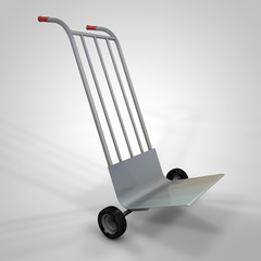 3d render cart to transport cartons