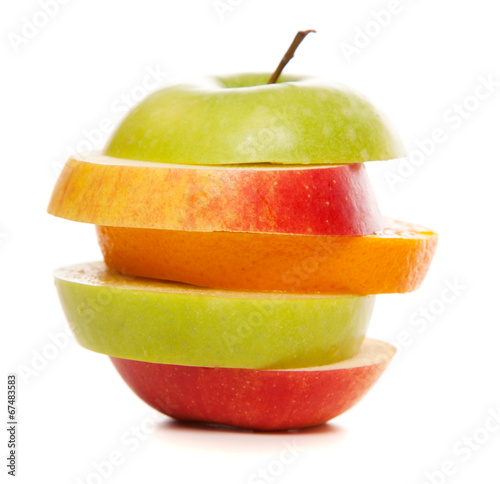 canvas print picture Apples and oranges mix