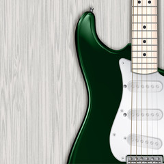 abstract grunge wooden background with electric guitar