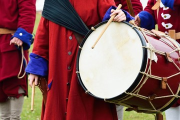 Ceremonial drum outdoors