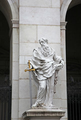 St. Paul statue at Salzburg Cathedral, Austria