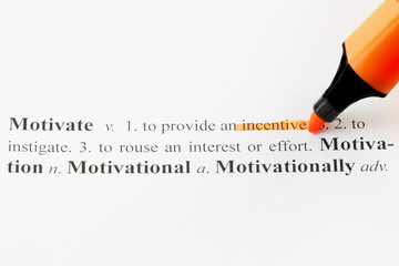 Motivate with an Orange Highlight Marker Pen