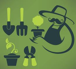 my garden, farmer image