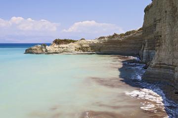 View of the bay of Corfu. Greece.