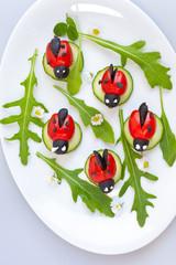 Marienkäfer aus Tomaten