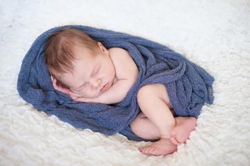 Adorable baby boy, sleeping