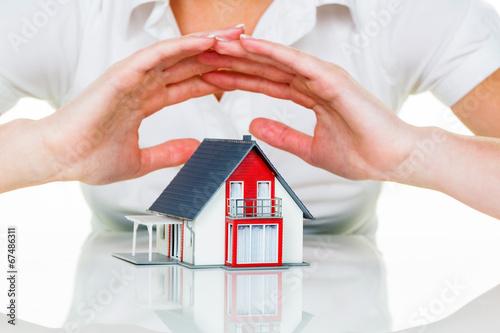 Haus wird beschützt