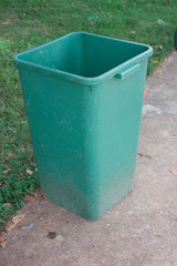 Green bin located in the park.