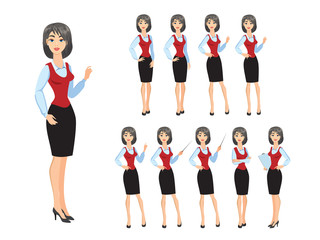 Business woman in various poses