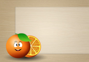 funny oranges background