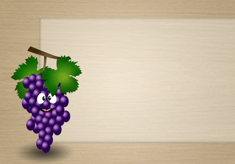 funny grapes background