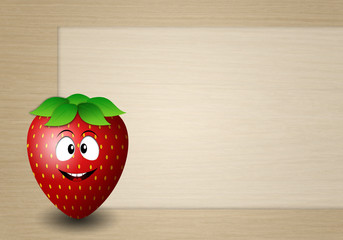 funny strawberry background