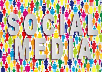 Fondo abstracto con las palabras social media