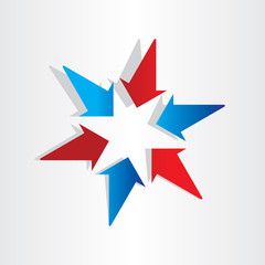 arrows symbol center target