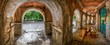 Своды арок старого речного вокзала - 67488592