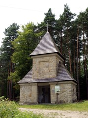 chapel of military cemetery in Cieklin near Jaslo