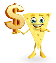 Cheese Character with dollar sign