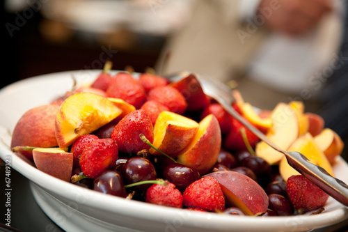 canvas print picture Obst, Catering, Fingerfood
