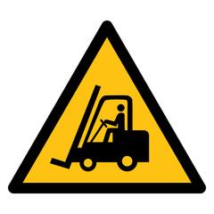 Warning sign, BEWARE FORKLIFT