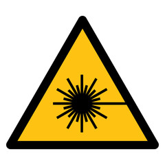 Warning sign, Warning for laser beam