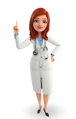 Young Doctor with pointing pose