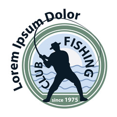 Fishing logo, fisherman logotype 1