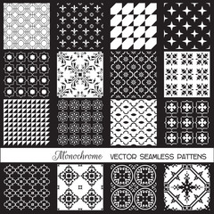 Seamless backgrounds Collection - Monochrome Set
