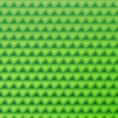Abstract green geometric vector shape background made with isome