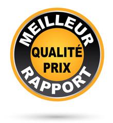 Label meilleur rapport qualité prix jaune