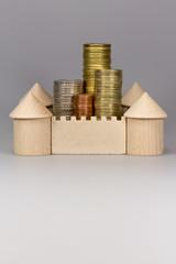 Burg mit Geld