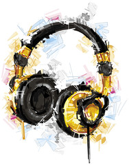 Yellow Headphones