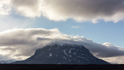 Volcano Herdubreid. Iceland.