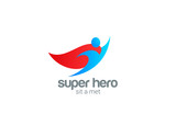 Super Hero abstract Flying Character vector logo design - 67490703