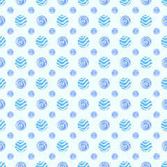 Blue soft vector polka dot seamless pattern