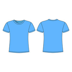 men's blue short sleeve t-shirt design templates